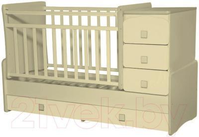 Детская кровать-трансформер Антел Ульяна-2 (слоновая кость) - общий вид