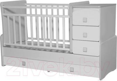 Детская кровать-трансформер Антел Ульяна-2 (белый) - общий вид