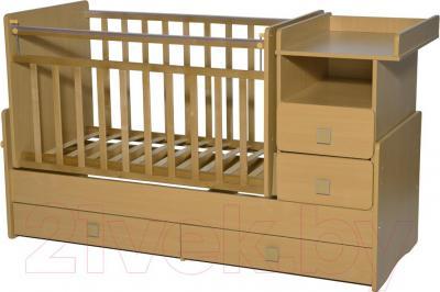 Детская кровать-трансформер Антел Ульяна-4 (бук) - общий вид