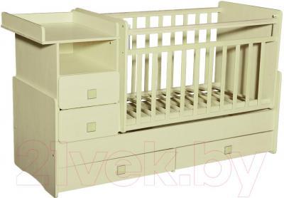 Детская кровать-трансформер Антел Ульяна-4 (слоновая кость) - общий вид