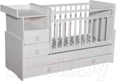 Детская кровать-трансформер Антел Ульяна-4 (белый) - общий вид