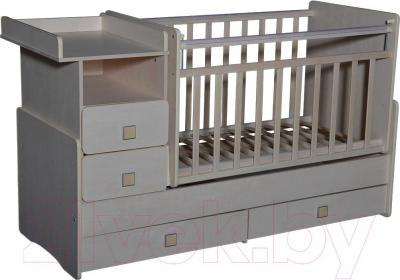 Детская кровать-трансформер Антел Ульяна-4 (клен) - общий вид