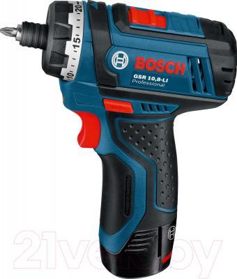 Профессиональная дрель-шуруповерт Bosch GSR 10.8-LI Professional (0.601.992.901) - вид сбоку