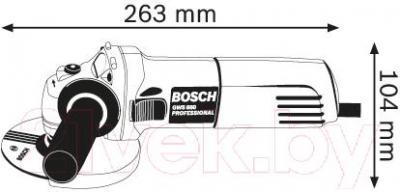 Профессиональная болгарка Bosch GWS 660 (0.601.375.08H) - схема