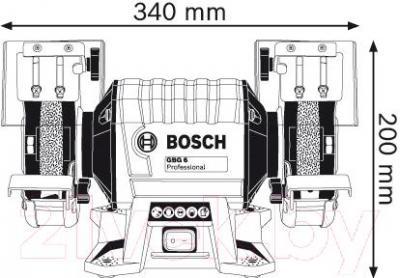 Профессиональный точильный станок Bosch GBG 6 Professional (0.601.27A.000) - схема