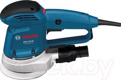 Профессиональная эксцентриковая шлифмашина Bosch GEX 125 AC Professional  (0.601.372.565) - вид сбоку