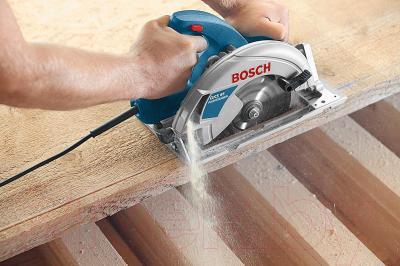 Профессиональная дисковая пила Bosch GKS 65 Professional (0.601.667.000) - в работе