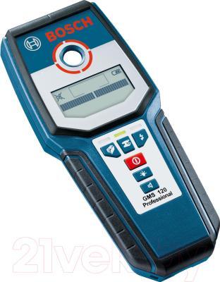 Детектор скрытой проводки Bosch GMS 120 Professional (0.601.081.000) - вид сбоку