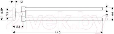 Держатель для полотенца Hansgrohe Logis 40512000 - схема