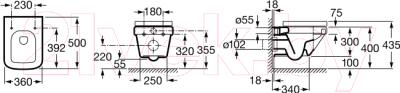 Унитаз подвесной Roca Dama-N A346788000 (только чаша, укороченный)