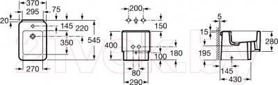 Биде напольное Roca Element A357577000 - технический чертеж