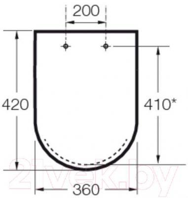 Сиденье для унитаза Roca Hall A801622004 (белое) - габаритыне размеры
