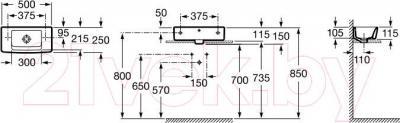 Умывальник Roca Hall Mini 50x25 (A325883000)