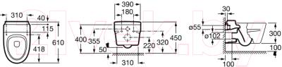 Унитаз подвесной Roca Khroma A346657000 (только чаша)
