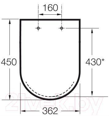 Сиденье для унитаза Roca N-Meridian A8012A0004 (белое)