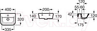 Умывальник настенный Roca The Gap 40x32 (A327478000)