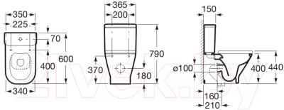 Унитаз напольный Roca The Gap Clean Rim A34273700H (только чаша)