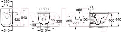 Унитаз подвесной Roca The Gap A346477000 (только чаша)