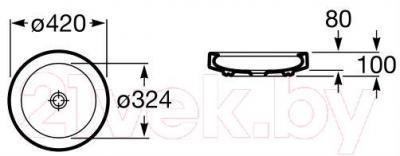 Умывальник Roca Orbita 42 (А327222000)