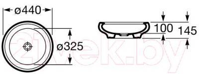 Умывальник Roca Art 44 (А327220000)