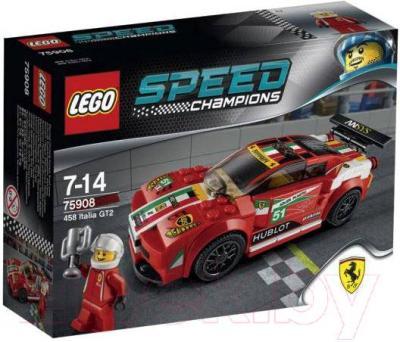 Конструктор Lego Speed Champions 458 Италия GT2 75908 - упаковка