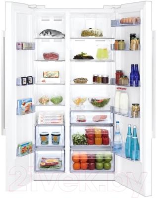 Холодильник с морозильником Beko GN163120W - внутренний вид
