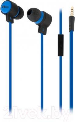 Наушники-гарнитура Ritmix RH-191M (черно-синий) - общий вид