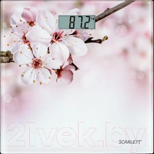 Напольные весы электронные Scarlett SC-BS33E053 (сакура) - общий вид