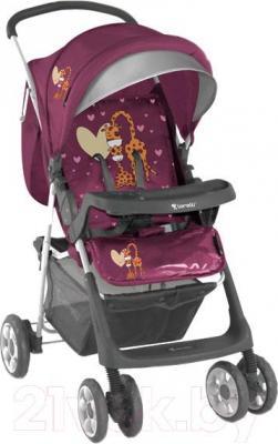 Детская прогулочная коляска Lorelli Star (Pink Giraffes) - общий вид