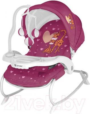 Детский шезлонг Lorelli Dream Time (Pink Giraffes) - общий вид