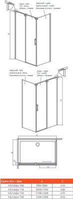 Душевое ограждение Radaway Espera KDJ Door 100 L (380130-01L)
