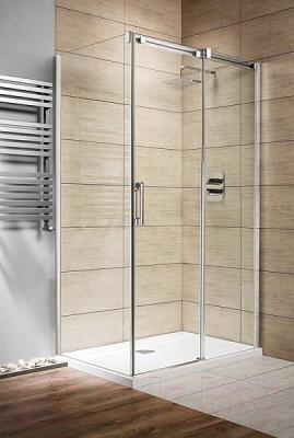 Душевая дверь Radaway Espera KDJ Door 120 R (380132-01R) - вид в интерьере со стенками и поддоном