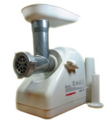 Мясорубка электрическая БЕЛВАР КЭМ-36/220-4-23 (белый) - вид спереди