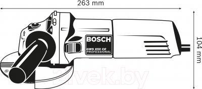 Профессиональная болгарка Bosch GWS 850 CE (0.601.378.790) - схема