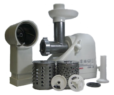Мясорубка электрическая БЕЛВАР КЭМ-36/220-4-24 (белый) - общий вид