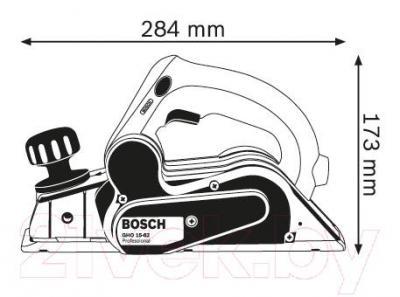 Профессиональный электрорубанок Bosch GHO 15-82 Professional (0.601.594.003) - схема