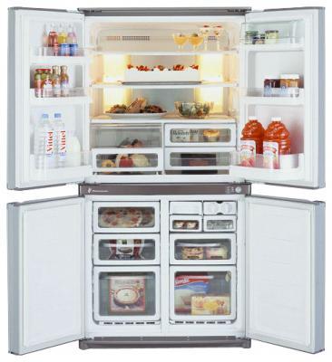 Холодильник с морозильником Sharp SJ-F74PSSL - общий вид