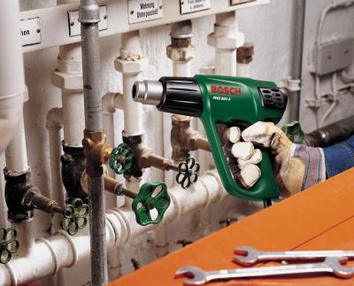 Строительный фен Bosch РHG 600-3 (0.603.29B.008) - в работе