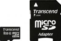 Карта памяти Transcend microSDHC (Class 10) 8GB + адаптер (TS8GUSDHC10) -