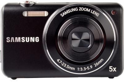 Компактный фотоаппарат Samsung ST93 (EC-ST93ZZBPB) Black - Вид спереди