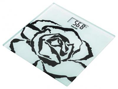 Напольные весы электронные Beurer GS 27 Black Rose - вид спереди