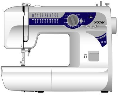 Швейная машина Brother XR-21 - вид сбоку