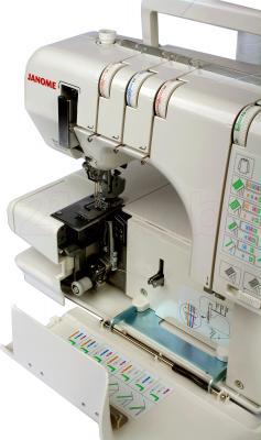 Распошивальная машина Janome CoverPro II - заправка нити