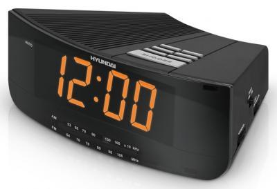 Радиочасы Hyundai H-1527  (Black) - вид сбоку