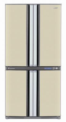 Холодильник с морозильником Sharp SJ-F78PEBE - вид спереди