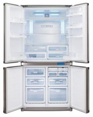 Холодильник с морозильником Sharp SJ-F800SPBK - внутренний вид