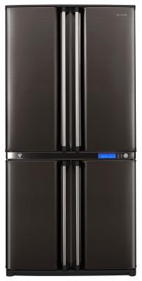 Холодильник с морозильником Sharp SJ-F800SPBK - внешний вид