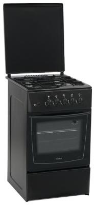 Кухонная плита Nord ПГ4-201-7А (черная)  - вид спереди