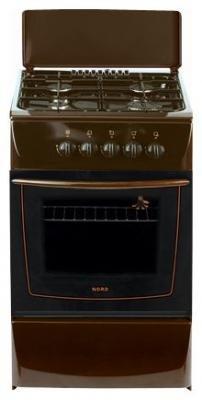 Кухонная плита Nord ПГ4-203-7А коричневая - вид спереди