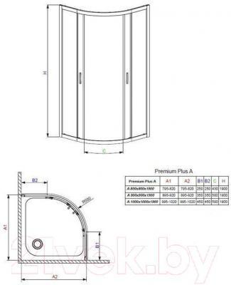 Душевое ограждение Radaway Premium Plus A800 (30413-01-01N)